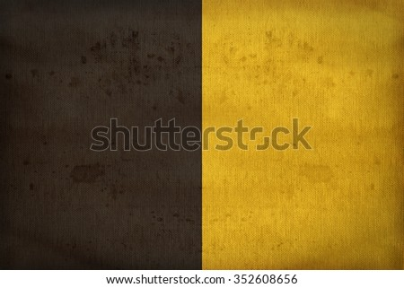 Sneek, the second city of the province of Friesland flag pattern on fabric texture,retro vintage style - stock photo