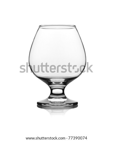 snifter glass on white background - stock photo