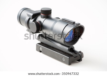 Sniper gun scope isolated on white background - stock photo