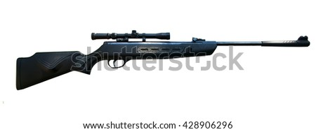 Sniper rifle isolated on white background - stock photo