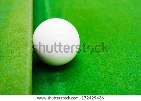 snooker ball on the table