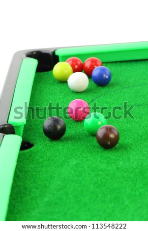 snooker on white background