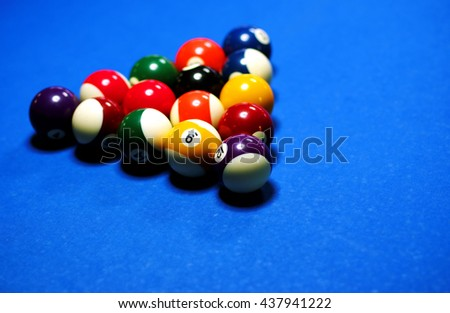 Snooker table - stock photo