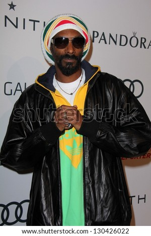 Snoop Dogg at the Hollywood Reporter Celebration for the 85th Academy Awards Nominees, Spago, Beverly Hills, CA 02-04-13 - stock photo
