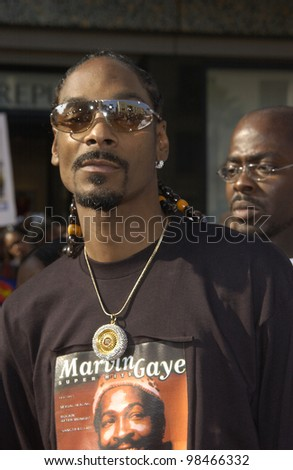 SNOOP DOGG at the 3rd Annual BET (Black Entertainment TV) Awards at the Kodak Theatre, Hollywood. June 24, 2003  Paul Smith / Featureflash - stock photo