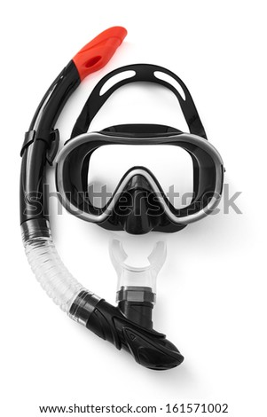 Snorkel and Mask for Diving - stock photo