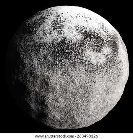 View On Surface Moon Earth Handmade Stock Vector 532183171 ...