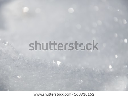 snow backgrond - stock photo