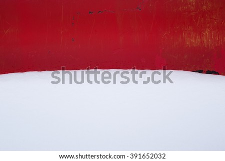 snow background - stock photo
