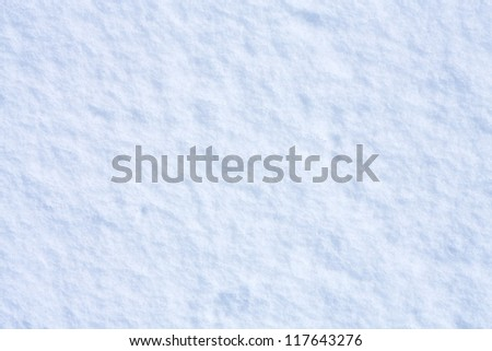 Snow background with blue tint - stock photo