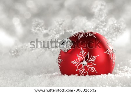 snow ball and red color