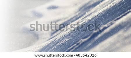 Snow banner background with copy space