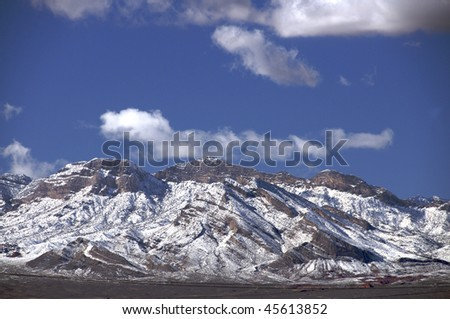 snow-capped mountains - stock photo