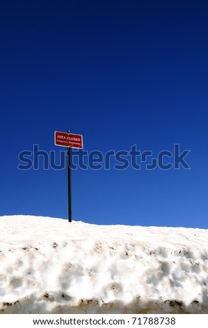 Snow Closure - stock photo