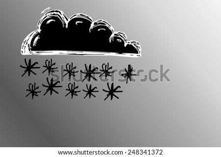 snow cloud - stock photo