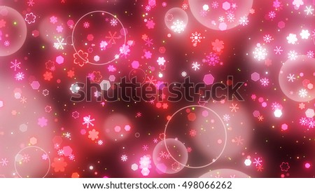 snow crystal round particle. 3d illustration, 3d rendering