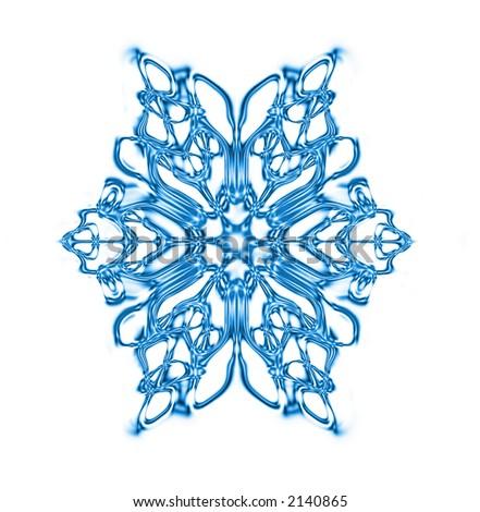 snow flake - stock photo