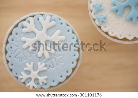 Snow Flake Cup Cake