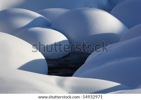 Snow forms - stock photo