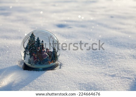 snow globe - stock photo