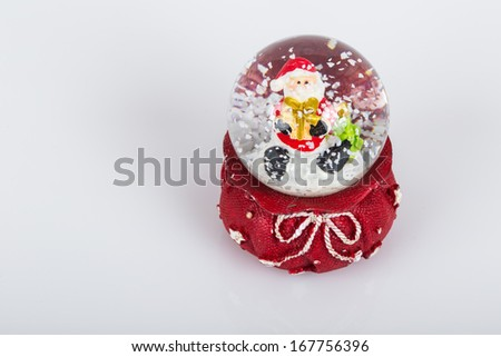 snow globe for noel - stock photo