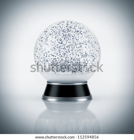 Snow globe on white background - stock photo