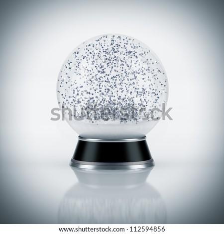 Snow globe on white background - stock photo
