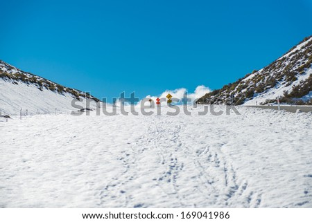 Snow hill - stock photo