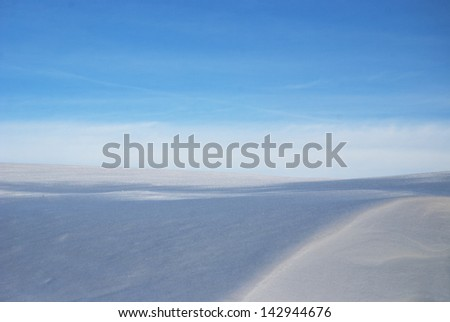Snow horizon - stock photo