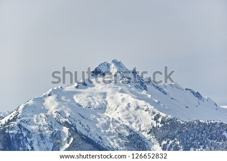 Snow Mountain in Canada - stock photo