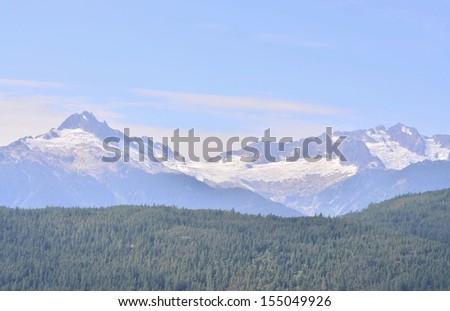 Snow mountain scenery - stock photo