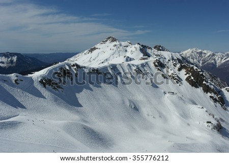 Snow mountain, Sochi, Russia, winter landscape - stock photo