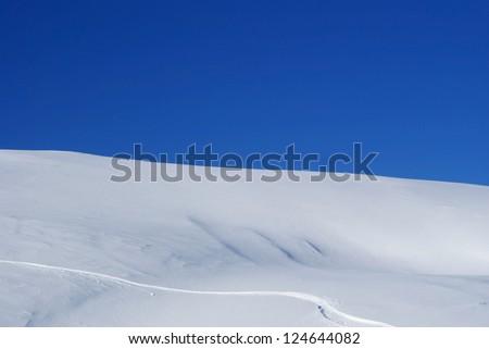 Snow Peak on sunny day - stock photo