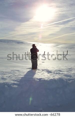 Snow Photographer - stock photo
