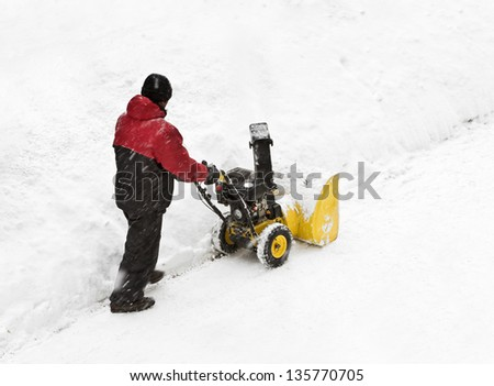snow removal on the streets after a snowfall