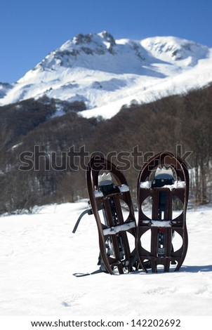 Snow shoes - stock photo