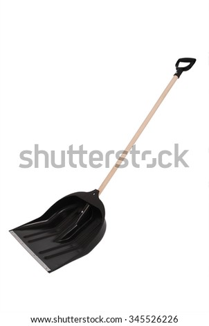 Snow shovel isolated on white. Clipping path - stock photo