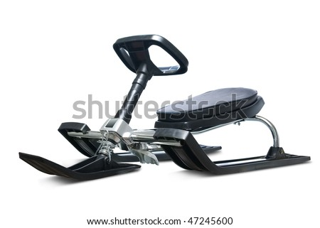 Snow sledge. Isolated on white background with clipping path.