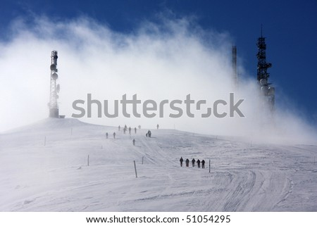 Snow Storm - stock photo