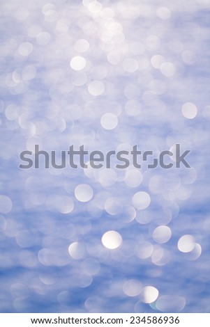 snow surface boke - abstract background - stock photo