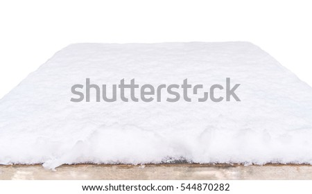 snow table with white background,Ready for product display montage