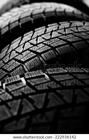 Snow tires background - stock photo
