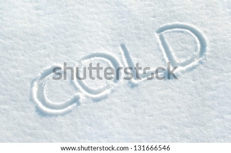 snow with lettering cold/snow/winter