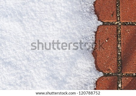 snow with red floor
