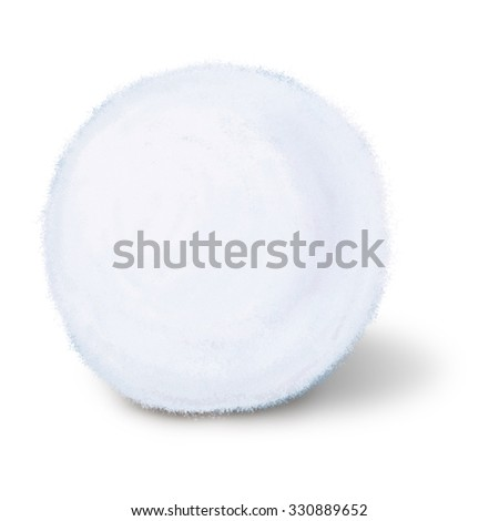 Snowball isolated on white - stock photo