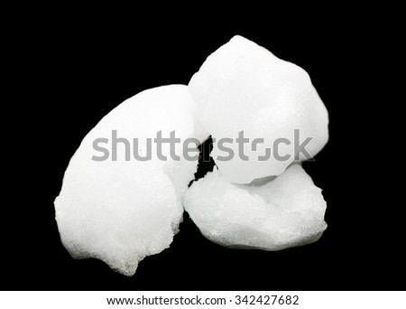 Snowball on a black background. - stock photo