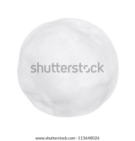 Snowball or hailstone on a white background - stock photo