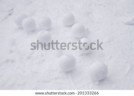 Snowballs - stock photo