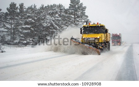 Snowblizzard in Estonia - stock photo