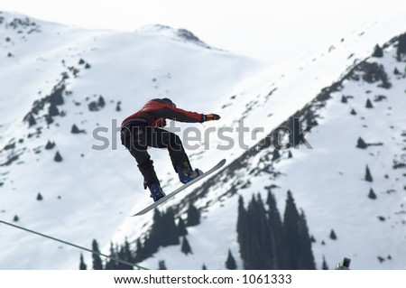 Snowboard extreme fly